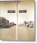 2nd St. 1930 And Route 66 1950 Metal Print
