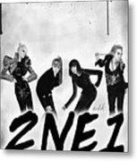 2ne1 Korean Pop Power Metal Print