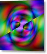 2x1 Abstract 344 Metal Print