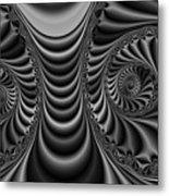 2x1 Abstract 435 Bw Metal Print