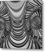 2x1 Abstract 436 Bw Metal Print