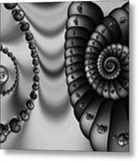2x1 Abstract 437 Bw Metal Print