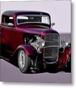 1932 Ford 'three Window' Coupe   Metal Print