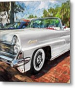 1959 Lincoln Continental Town Car Mk Iv Painted  Metal Print