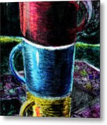 3 4 Coffee Metal Print
