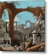 A Capriccio Of Roman Ruins Metal Print