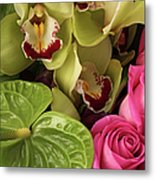 A Close-up Of A Bouquet Of Flowers Metal Print