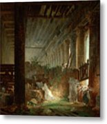 A Hermit Praying In The Ruins Of A Roman Temple Metal Print