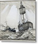 A Lightship's Xmas Dinner Metal Print