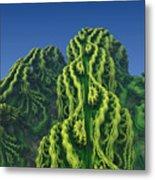 Abstract Fractal Landscape Metal Print