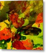 Abstract Landscape, Fall Theme Metal Print