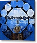 Abstract Painting - Yale Blue Metal Print