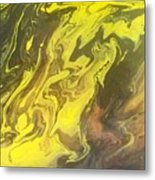 Abstract Pour  Metal Print