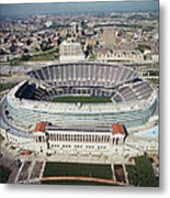Aerial View Of A Stadium, Soldier Metal Print