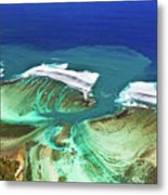 Aerial View Of The Underwater Channel. Mauritius Metal Print