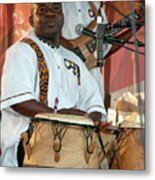 African Drum And Dance By Mawre And Company Metal Print