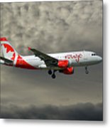 Air Canada Rouge Airbus A319-114 Metal Print
