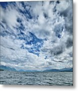 Alaska Waterscape And Mountains Near Favorite Channel And  Junea Metal Print