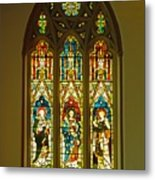 3 Apostles South Stained Glass Window Christ Church Cathedral 1 Metal Print