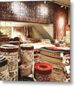 Area Rugs In A Store Metal Print by Jetta Productions, Inc
