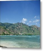 Areia Branca Tropical Beach View Near Dili In East Timor Metal Print
