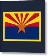 Arizona Flag Metal Print