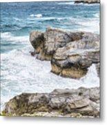 Atlantic Coastline In Bahamas Metal Print