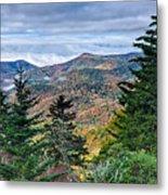 Autumn Foliage On Blue Ridge Parkway Near Maggie Valley North Ca Metal Print