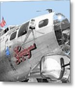 B-17g Flying Fortress Sentimental Journey 2 Avra Valley Arizona 1991 Color Added 2008 Metal Print