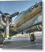 B17 Flying Fortress On The Ramp At Livermore Metal Print