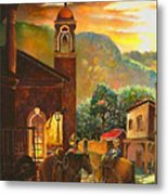 Back To The Herd Metal Print
