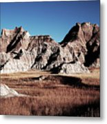 Badlands At Sunset Metal Print
