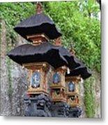 3 Bali Shrines Metal Print