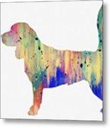 Beagle-colorful Metal Print