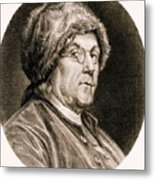 Benjamin Franklin, American Polymath Metal Print by Science Source