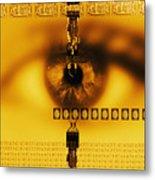Biometric Identification Metal Print