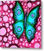 Blue Butterfly Metal Print by Brenda Higginson