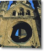 Bombed Out Church In Berlin Metal Print