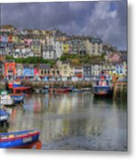 Brixham Harbour Metal Print