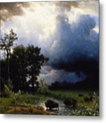 Buffalo Trail  The Impending Storm Metal Print