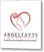 Red And White Angelfayss Metal Print