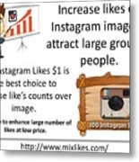 Buy Instagram Likes $1 Metal Print