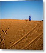 Tracks In The Sahara Metal Print