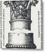 Capital And Base Of A Column Metal Print