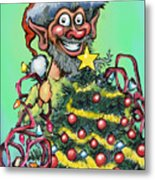 Christmas Elf Metal Print