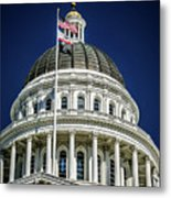 City Views Around California State Capitol Building In Sacrament Metal Print
