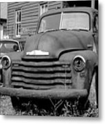 Old And Forgotten - Bw Metal Print