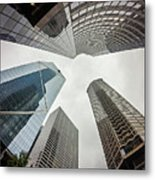 Cloudy And Rainy Day In Seattle Washington Metal Print