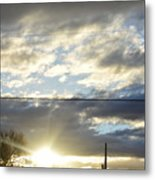 Cloudy Blue Metal Print