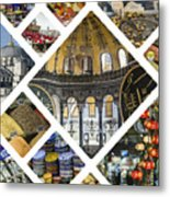 Collage Of Istanbul  Metal Print